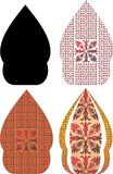 Gergunung é o projeto do javanese para o kulit do wayang Imagens de Stock
