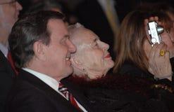 Gerhard Schroeder, Aude Einstein Royalty Free Stock Photos