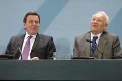 Gerhard Schroeder, Edmund Stoiber Stock Photos
