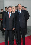 Gerhard Schroeder, Jacques Chirac Royalty Free Stock Image