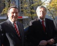 Gerhard Schroeder, Jean Claude Juncker Royalty Free Stock Photos