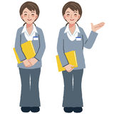 Geriatric care manager in different gestures Stock Images