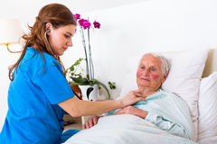 Geriatric examination Stock Photos