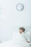 Geriatric ward patient Stock Images