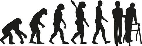 Geriatryczna pielęgniarki ewolucja ilustracja wektor