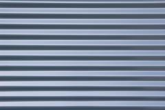 Geribbeld metaal blauwe achtergrond Stock Fotografie
