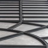 Geribbeld plafond met radiaal en horizontaal patroon stock afbeeldingen