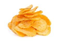 Geribbelde aardappelssnack Stock Foto's