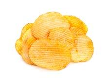 Geribbelde aardappelssnack Royalty-vrije Stock Foto