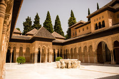 Gericht der Löwen Alhambra   Stockbild