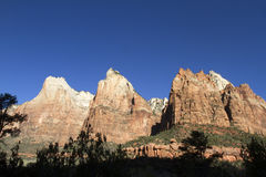 Gericht der Patriarchen, Zion National Park Lizenzfreies Stockbild
