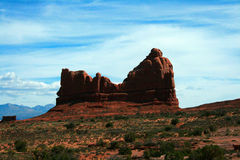 Gericht-Felsen im Bogen-Nationalpark Lizenzfreie Stockbilder