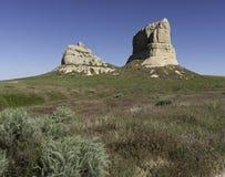 Gericht-und Gefängnis-Felsen Nebraska Stockfoto