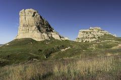 Gericht-und Gefängnis-Felsen Nebraska Lizenzfreies Stockbild