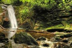 Gericht-Wasserfall II weg von blauen Ridge Parkway stockbilder