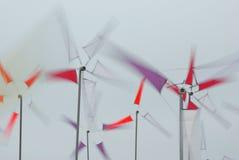 Gerichte de windmolens van jonge geitjes Royalty-vrije Stock Foto