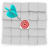 Gerichtetes Marketing - klebrige Anmerkungen und Pfeil Lizenzfreies Stockfoto