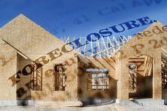 Gerichtliche Verfallserklärung des neuen Hauses Lizenzfreies Stockbild