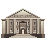 Gerichtsgebäude lokalisiert Stockbilder