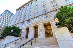 Gerichtsgebäude Vereinigter Staaten, das ein Bundesgericht herein lokalisierte Lizenzfreies Stockfoto