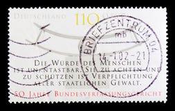 Gerichtshof, 50. Anniv von Bundesverfassungsgericht serie circa 2001 Lizenzfreie Stockbilder