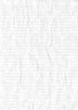 Gerimpeld wit blad van lijndocument stock illustratie