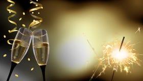 Gerinkelglazen - Nieuwjaar` s Vooravond/viering royalty-vrije stock foto's
