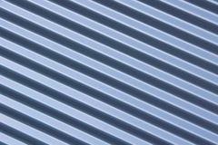 Gerippter blauer Metallhintergrund Lizenzfreie Stockfotos