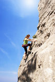 Gerl climber Royalty Free Stock Photo