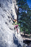 Gerl climber Royalty Free Stock Photography