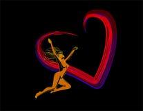 gerl miłość Zdjęcie Royalty Free