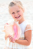Gerl With Shell Royalty Free Stock Photos