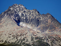 Gerlach Peak in Slovak High Tatras at autumn Stock Photo
