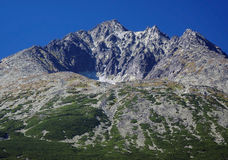 Gerlach Peak in Slovak High Tatras at summer Stock Image