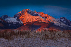 Gerlach solnedgång Royaltyfri Fotografi