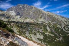 Gerlachovsky峰顶在高Tatras,斯洛伐克 免版税库存照片