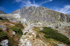 Gerlachovsky szczyt w Wysokim Tatras, Sistani Obraz Stock