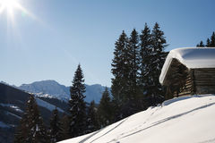 Gerlos austria in the snow Stock Photography