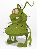 Germ. Nasty ugly germ, 3d generated picture Stock Photos