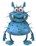 Germ. Nasty ugly germ, 3d generated picture Stock Photography