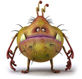 Germ. Nasty ugly germ, 3d generated picture Stock Photo