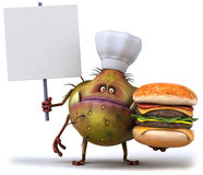 Germ chef Royalty Free Stock Photo