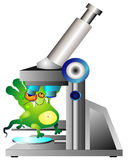 Germ and microscope Stock Photos