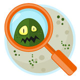 Germ in Petri plate Royalty Free Stock Photography