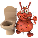 Germ and toilets Stock Photos