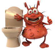 Germ and toilets Royalty Free Stock Photography