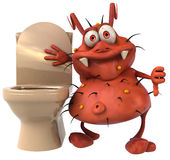 Germ and toilets Stock Images
