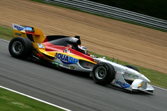 German a1 gp race car. On track, 5 May 2008 at Brands Hatch, UK Stock Image