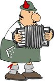 German Accordion Player Royalty Free Stock Photos