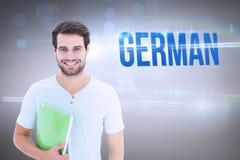 German against grey vignette Royalty Free Stock Photo